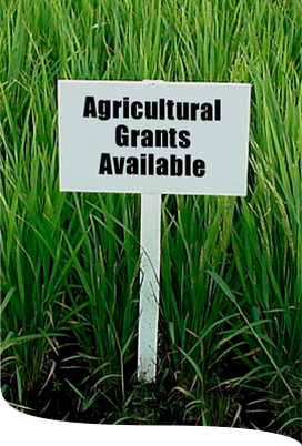 Sign saying Agricultural Grants Available